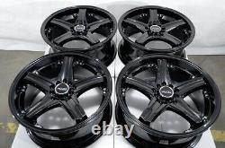 17 Roues 5x100 5x114.3 Honda Accord CIVIC Prelude Corolla Fusion Black Rims
