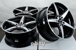 17 Roues Noir Rims Fit Honda Accord Prélude Civique Elantra Sonata Kia Soul (4)