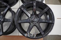 17x9 Roues Lexus Is300 Is350 Honda Accord CIVIC Mustang Wrx Black Rims 5x114.3