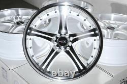 18 5x100 5x114.3 Roues Blanches S'adapte Subaru Legacy Wrx Impreza Accord 5 Lug Rims