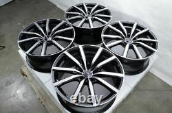 18 Roues Fit Hyundai Veloster Tucson Sonata Elantra Crosstour Black Rims 5x114