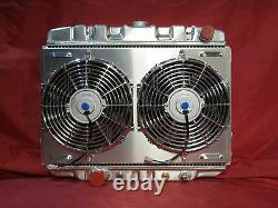 1967 1968 1969 1970 Mustang Cougar Big Block 24 Ventilateur De Linceul Radiateur En Aluminium