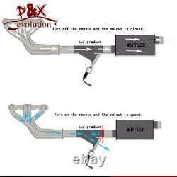 2.5 63mm Double Electric Exhaust Cutout Dump Bypass Valve Avec Kit De Commande Switch