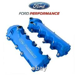 2005-2010 Mustang Gt 4.6 3v Ford Racing Gravé Blue Cam Valve Couvre Paire