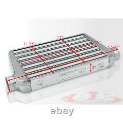 25 X 11.75 X 3 Universal Tube Fin Mont Avant Turbo Intercooler Fmic Aluminium