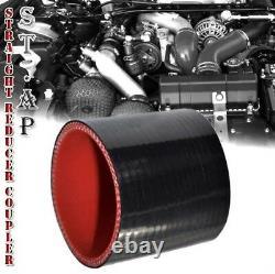 28x7turbo Fmic Intercooler+2.5aluminum Piping Pipe Kit Black 3ply Coupler Nouveau