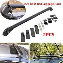 2x Voiture Suv Rack Rack Cross Bar Cargo Cargo Rail Sac À Bagages Sacs En Aluminium