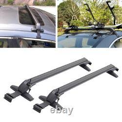 2x Vus Voiture Crossbar Rack Roof Rail Luggage Carrier Cross Aluminium Alloy