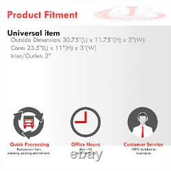 31x12x3 Universal Sport Mont Avant Turbo Intercooler Aluminium Avec Kit De Support