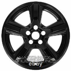 4 Fits 2015-2020 Ford Mustang V6 Black 17 Roue Skins Hub Casquettes Alloy Rim Covers