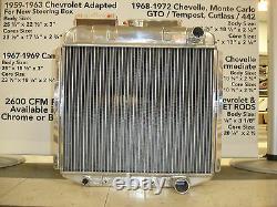 67-69 Mustang/cougar Radiateur En Aluminium V8 289-302-351 Entrée Droite Sortie Droite