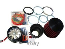 Ajustement Pour Ford Power Performance Electric Air Intake Supercharger Fan Motor Kit