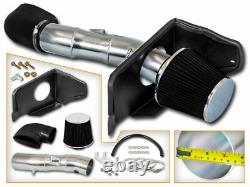 Bcp Black 05-09 Ford Mustang Gt 4.6l V8 Cold Air Intake Racing System + Filtre