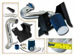 Bcp Blue 05-09 Mustang 4.0l V6 Kit D'admission D'air Froid + Filtre
