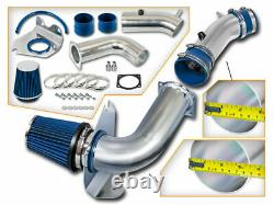 Bcp Blue 99-04 Mustang 3.8l V6 Kit D'induction D'air Froid + Filtre