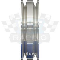 Big Block Ford Poulie Kit 429 460 Bbf 2 Groove V-belt Billet Aluminium Ps Set