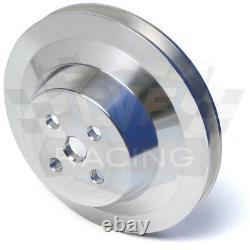 Billet Aluminium Ford V-belt Poulie Kit 302 351w 351c 351m 400 4 Bolt Crank