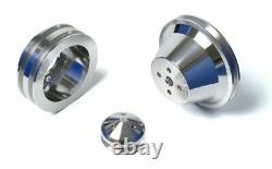 Billet Aluminium Ford V-belt Poulie Kit 302 351w 351c 351m 400 Underdrive 5.0 5.8
