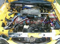 Black 94-95 Ford Mustang 5.0l V8 Système De Course D'entrée D'air Froid + Filtre