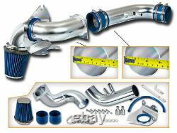 Blue Clold Air Intake Kit+ Dry Filter Pour Ford 96-04 Mustang Gt 4.6l V8