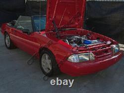 CX Radiator En Aluminium Kit De Tuyau Dur Pour 79-93 Ford Mustang Ls1 Lsx Swap Moteur