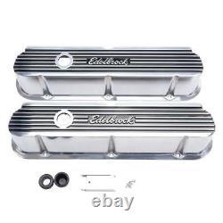 Edelbrock Valve Cover Set 4264 Aluminium Poli Pour Ford 289/302/351w Sbf