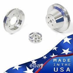 Ford Fe Engine V-belt Poulie Kit 352 390 427 428 Billet Aluminium Set Sheave