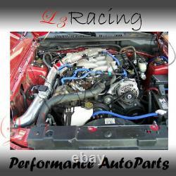 Indice D'induction Atmosphérique Rouge + Filtre Dry Pour Ford 99-04 Mustang Base 3.8l V6