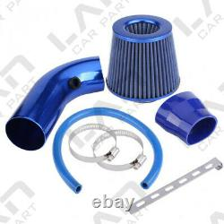 Kit D'admission D'air Blue Pipe Diameter 3 +cold Air Intake Filter+ Clamp+ Accessoires