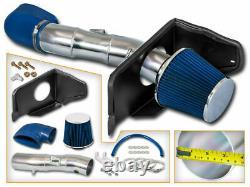 Kit D'admission D'air Froid + Filtre Bleu Pour 05-09 Ford Mustang Gt 4.6l V8