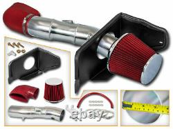 Kit D'admission D'air Froid + Filtre Red Pour 05-09 Ford Mustang Gt 4.6l V8
