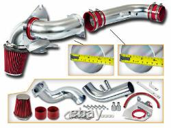 Kit D'admission D'air Froid + Filtre Red Pour 96-04 Ford Mustang Gt 4.6 V8