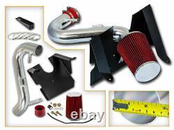 Kit Rouge D'admission D'air Froid+ Filtre Sec Pour 05-09 Ford Mustang 4.0l V6