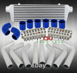 Kit Universel De Tuyauterie En Aluminium 2.5 + Fmic Turbo Intercooler + Tuyau De Silicone