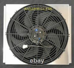 New All Aluminum Radiateur Fan Shroud Avec 16 Fan Ford Mustang Falcon Comet