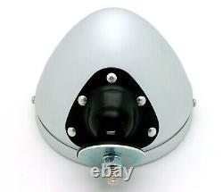 Nouveau Raydot Classic Style Spun Aluminum Bullet Mirror Fender / Door Mount Vintage