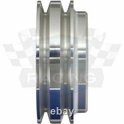 Petit Bloc Ford 2 Groove V-belt Pulley Kit Sbf Lwp 289 302 351w Lwp 2v Alt