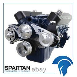 Petit Bloc Ford 289 302 Serpentine Kit De Conversion Sbf Power Steering Alt