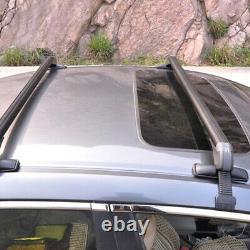 Porte-bagages De Porte-bagages De Rail De Toit De Voiture Croix Noir D'aluminium Avec La Serrure Antitheft