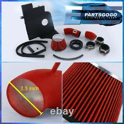 Pour 2011-2014 Ford Mustang V6 Base 3.7l 3.7 Rouge Performance Kit D'admission D'air Froid