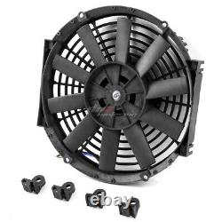 Pour 79-93 Mustang Full Aluminum 3-rowithcore Racing Radiator+cooling Black Fans