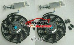 Radiateur Alu + Fans Pour Ford Mustang Gt Gl Svt Cobra 5.0 Windsor V8 302 79-93 Mt