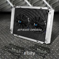 Radiateur En Aluminium 3 Rangs+2x 12fan Noir Pour 79-93 Ford Mustang V8/v6 Lx/gt/cobra