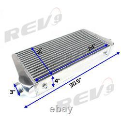 Rev9 Universal Spec R Turbo Intercooler Fmic Aluminium 30.5x12x4 400-800ch+ 3inch