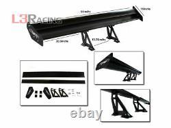 Rtunes Racing Gt Type V Black Réglable Aile Spoiler En Aluminium Pour Ford