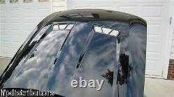 S'adapte Ford 03-04 Svt Cobra Mustang Billet Hood Heat Extractor Vents Black 16928he