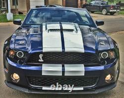 Shelby Logo Silver Billet Kit D'épingle En Aluminium Pour Ford Mustang 1965-2014 +plus