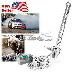 Silver Hydraulic Racing Hand E Brake Drift Rally Handbrake Aluminium Lever Hb05