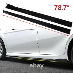 Splitter À Lèvre Avant + 78.7 Jupes Latérales + Goujons Pour Ford Mustang Gt