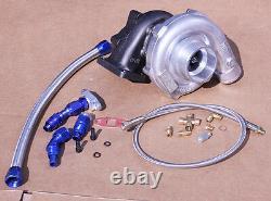 T3/t4 Racing Spec Turbo Turbocharger Upgrade Power + Oil Feed & Return Line Kit
